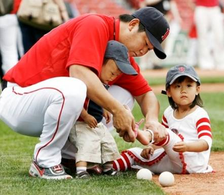 松坂大輔と子供の画像